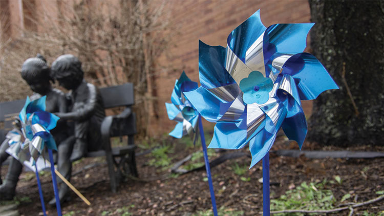 Pinwheel Planting for Child Abuse Prevention