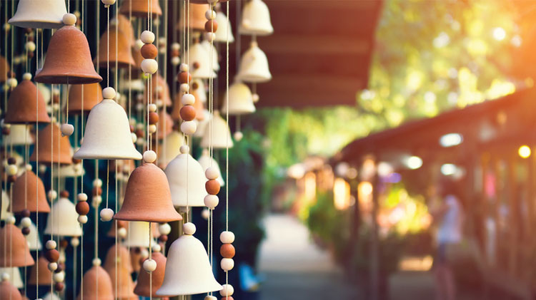 Making Ceramic Wind Bells at the Arts & Crafts